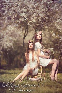 Олеся Гавриш - свадебная флористика и декор - Девичник в цветущих садах