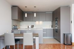 Open plan Basalt grey kitchen