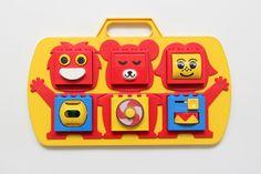 Vintage Lego Duplo cot activity toy