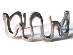 SNAKE cuff in Stainless Steel: Medium