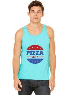 pizza 2017 funny Tank Top