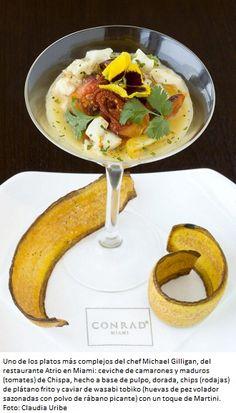 Ceviche de camarones y maduros de Chispa del chef Michael Gilligan.