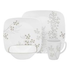 corelle vitrelle square dinnerware | corelle shadow dance square 16 pc dinnerware set buy corelle  sc 1 st  Pinterest & 16-Pc Corelle Square Dinnerware Set | Xian | Pinterest | Dinnerware ...