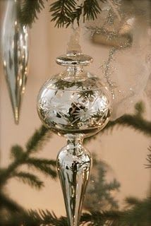 Mercury glass finial ornament