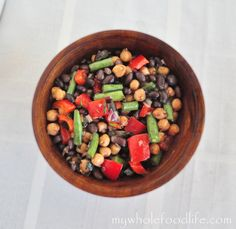 Honey Balsamic Bean Salad.  A great dish when it's too hot to cook.  Gluten free.