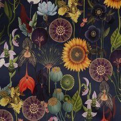 Navy Color, Bunt, Illustration, Number, Painting, Sunflowers, Poppy, Darkness, Dark Blue