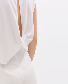 ZARA - NEW THIS WEEK - TOP WITH KNOTTED BACK