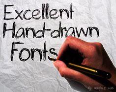40 Free High Quality Hand-drawn Fonts