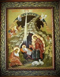 Nasterea Domnului - icoana pe lemn - autor: Florian Colea - Targoviste, Romania