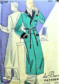 Schnittmuster Herren WW2 1940er RAGLAN Jahre Vintage C38 OVERCOAT vm08OwNn