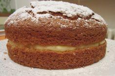 torta soffice al COCCO con ripieno di crema PASTICCERA SENZA BURRO