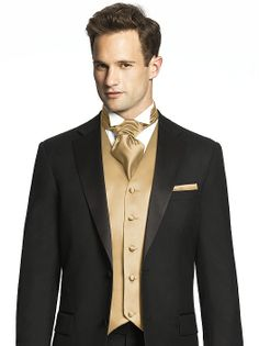 That cravat...needs to be tied differently, though Custom Cravats in Duchess Satin http://www.dessy.com/accessories/mens-cravat/