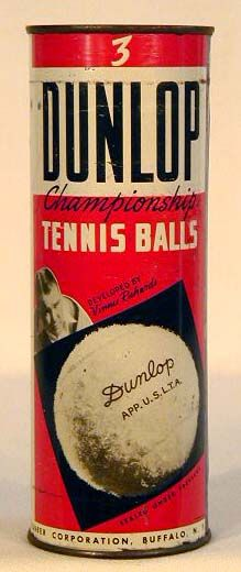 1920-30's Vinnie Richards, Dunlop Flat-Top Tennis Ball Can Follow Me:   www.orlandoweddingsinger.com   www.pinterest.com/dowopdave   http://twitter.com/davidfroberts   https://www.facebook.com/pages/David-Roberts-and-the-Sounds-of-Sinatra/271766759522088   http://www.linkedin.com/profile/view?id=50182491 #davidroberts