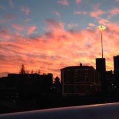Newcastle sunset, autumn 2014 Newcastle, Seattle Skyline, Autumn, Celestial, Sunset, Travel, Outdoor, Sunsets, Outdoors