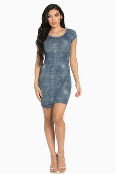 Denim Blue Bodycon Midi Dress Denim Bodycon Dress, Bodycon Fashion, Blue Denim, Formal Dresses, Style, Dresses For Formal, Swag, Formal Gowns, Formal Dress