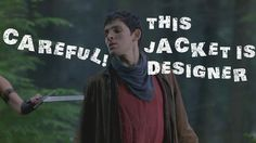 Merlin's designer jacket