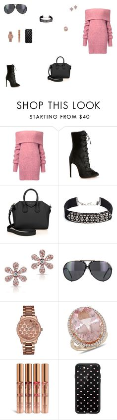 """Look do Dia"" by julianaf121 ❤ liked on Polyvore featuring Alaïa, Givenchy, DANNIJO, Anne Sisteron, Porsche, GUESS, Amour and Casetify"