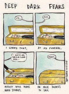 Illustrator Fran Krause turns people's deepest and darkest fears into comics.