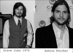 Steve Jobs'un hayatını, Ashton Kutcher oynayacak..Aradaki müthiş benzerliğe bakar mısınız..