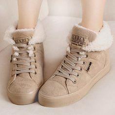 2016 fur inside fashion lady sexy female woman flat warm ankle women snow  boots for women 343f7395641