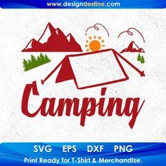Camping Stores, Camping Life, Camping With Kids, Camping Gear, Shirt Print Design, Shirt Designs, Camping Activities, Design Bundles, Hobbies