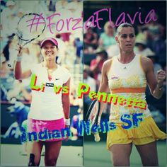 Flavia def. Na at 2014 BNPP Open ---> Via @pennettafanclub 3/14/14  Li Na vs @flavia_pennetta !! Indian Wells SemiFinal @Weddingtree Bogor Art  Stanotte alle 4.30 !! #ForzaFlavia #LetsDoThis
