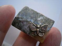 Ring,khaki,Schmetterling,Naturschmuck von kunstpause auf DaWanda.com