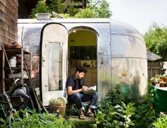 Landscape Architect Andreas Stavropoulos's 1959 Airstream Trailer | Remodelista