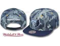 Denim Camo Grizzlies Strapback Cap by MITCHELL & NESS