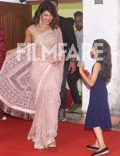 Priyanka is currently enjoying the holiday season in Mumbai Indian salwar CLICK Visit link to see Indian Gowns Dresses, Pakistani Bridal Dresses, Indian Fashion Dresses, Indian Designer Outfits, Designer Dresses, Trendy Sarees, Stylish Sarees, Fancy Sarees, Priyanka Chopra Saree