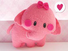 pink elephant felt