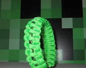 Minecraft Creeper Survival Strap Gamer Wristband Gamers Bracelet