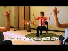 1 Hr Chair Yoga Class for Osteoarthritis Relief with Justine Shelton, E-RYT500 - YouTube