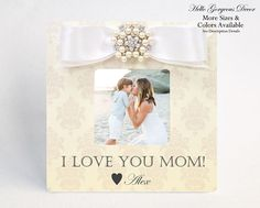 Gift for Mom Mother Picture Frame Personalized Gift to Mother