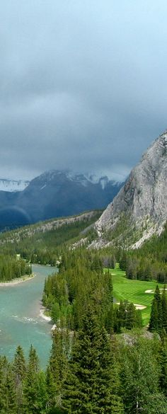 View from Banff Springs Hotel ,Banff,Alberta,Canada
