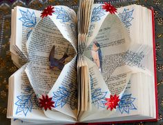 """""""Looking for Signs of a Safe Return Home"""" Altered book by Rachael Ashe."""