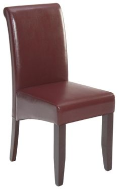 Red Bonded Leather Chair Morris Homes, Bonded Leather, Leather Chairs,  Leather Dining Chairs