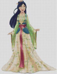 Counted Cross Stitch Pattern Disney Mulan by crossfandomxstitch, £2.18