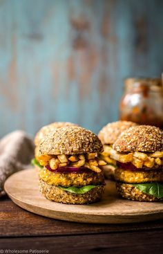 chickpea sliders with french fries