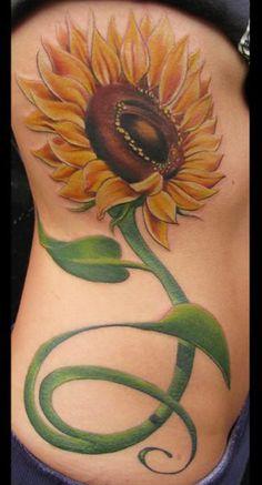 My Body My Tattoos: Sunflower Tattoo Designs