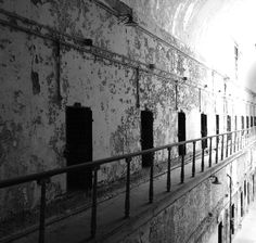 Cell block at the Eastern State Penitentiary, Philadelphia, PA