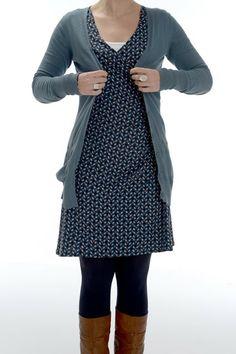 LES MADEMOISELLES: tricotkleedje uit Knip Mode 12/2011