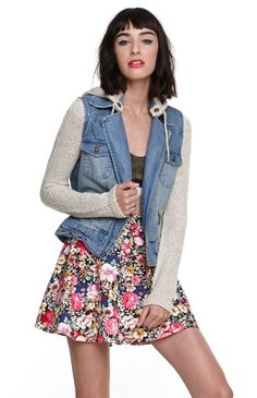 Womens Billabong Jacket - Billabong Rev Up Denim Jacket