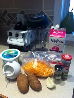 Cooking Illustrated: Loaded Baked Potato Soup made in a Blender. If I'm going to cook the onion and heat up the milk, it's just as easy to cook it in the pot.