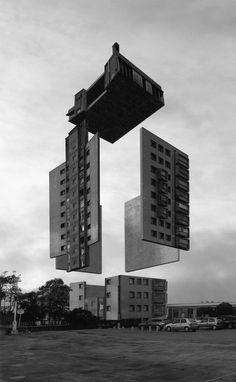 Homepage of Norwegian artist Espen Dietrichson. Japanese Architecture, Amazing Architecture, Architecture Art, Futuristic Art, Photocollage, Beautiful Buildings, Unusual Buildings, Elements Of Design, Built Environment