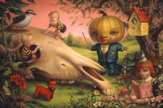 Mark Ryden is a veteran of the Pop-Surrealism style, having been at the forefront of this genre since the late 1990's when it was first taking roots in the artistic community. Description from beautifulbizarre.net. I searched for this on bing.com/images
