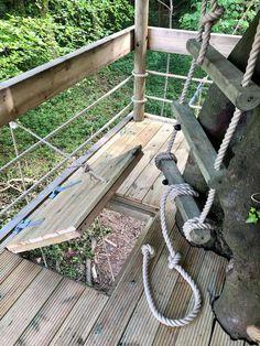 Backyard Fort, Backyard For Kids, Backyard Treehouse, Treehouse Kids, Tree House Playground, Backyard Playground, Tree Deck, Tree House Deck, House Ladder
