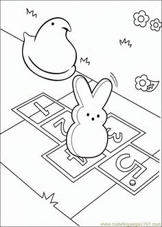 Marshmallow Peeps Coloring Pages On Coloring Book Info Easter