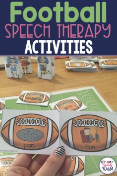 Football themed activities for Speech Therapy, including articulation, phonological processes, and language. Articulation Therapy, Articulation Activities, Speech Therapy Activities, Speech Language Pathology, Speech And Language, Therapy Games, Music Activities, Language Activities, Music Therapy