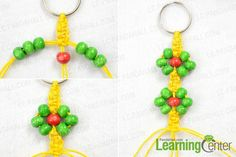 Finish beads keychain design